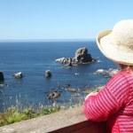 Visiting Ecola state park, Oregon coast. — Stock Photo