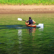 Paddling a kayak in a river. — Stock Photo #6517983