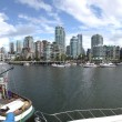 Stock Photo: Granville Island & high rises dwellings, Vancouver BC.