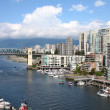 Stock Photo: Granville Island & high rises dwellings, Vancouver BC Canada.
