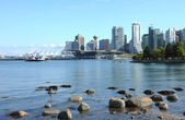 Vancouver BC from Stanley park, Canada. — Stock Photo