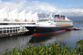Cruise ship moored at Canada place in Vancouver BC Canada. — Stock Photo