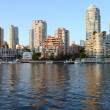Vancouver BC south waterfront skyline & sailboats. — Stock Photo #6695110