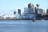Canada Place & skyline Vancouver BC Canada. — Stock Photo