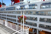 Cruise ship, Canada Place Vancouver BC Canada. — Stock Photo