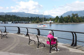 A peaceful afternoon near the waterfront Vancouver BC Canada. — Stock Photo