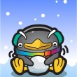 Vector illustration Penguin - Stock Vector
