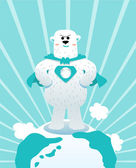 Polar Bear Hero — Stock Vector