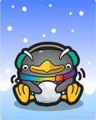 Vektor illustration pingvin — Stockvektor