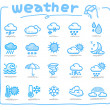 Hand drawn weather icon - Stock Vector
