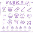 Постер, плакат: Hand drawn musical instrument icon