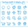 Hand drawn internet and web icons - Stock Vector