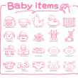 Hand drawn baby icon — Stock Vector #5824742