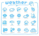 Hand drawn weather icon — Stok Vektör