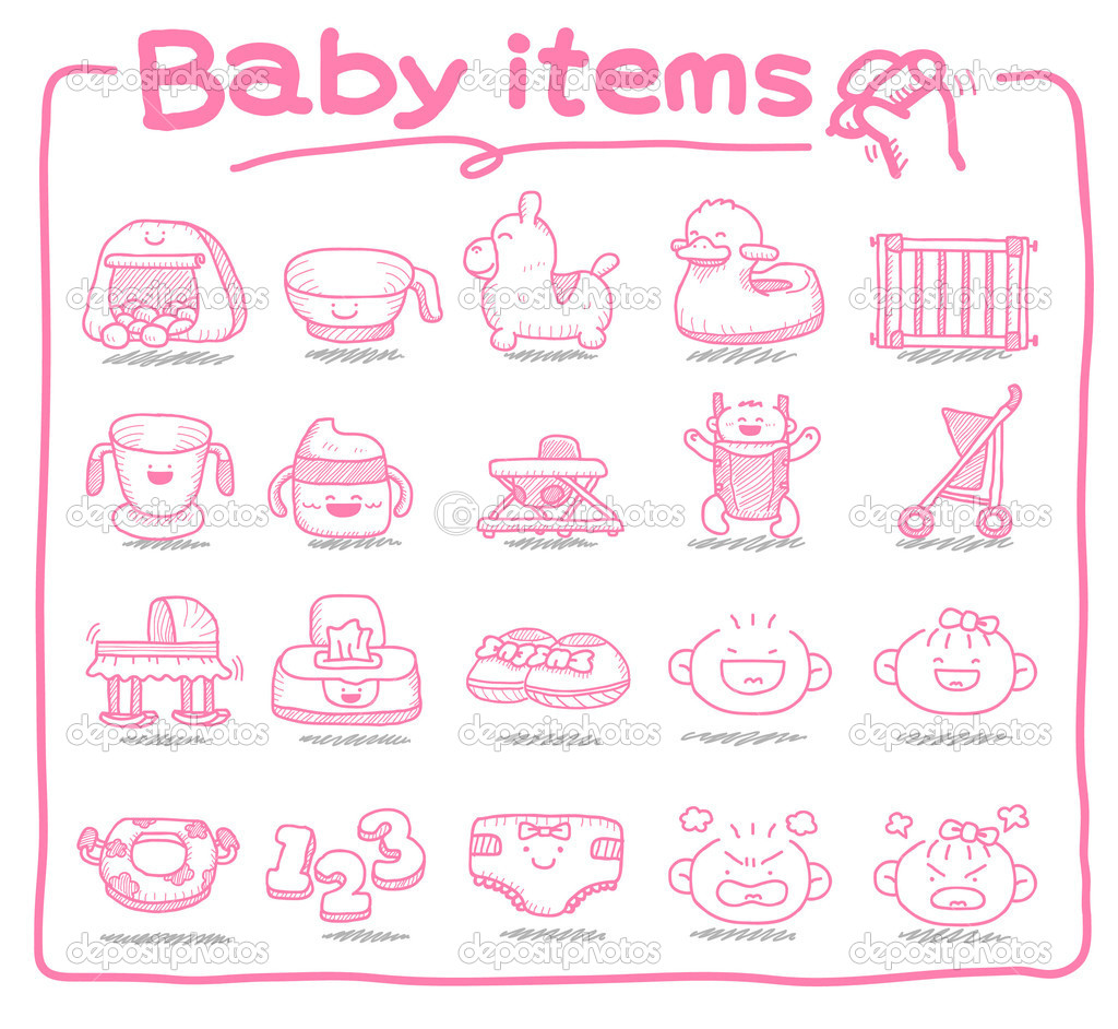 Baby item, baby toys  Stock Vector #5824742