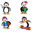Funny penguins — Stock Vector #5778245