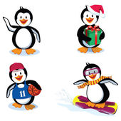 Funny penguins — Stock Vector