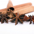 Cinnamon and star anise - Stock Photo