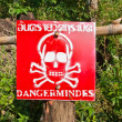 Danger - Mines! — Stock Photo