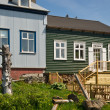Wooden houses in the icelandic town Borgarnes — Stock Photo