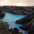 At the Blue Lagoon near Reykjavik - Stock Photo