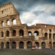 The Colosseum at a stormy day - Foto Stock