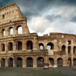 The Colosseum at a stormy day - Stok fotoraf