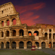 The Colosseum at sunset - Foto Stock