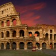 The Colosseum at sunset - 图库照片