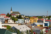 The icelandic town Borgarnes — Stock Photo
