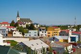 The icelandic town Borgarnes — Stock Photo