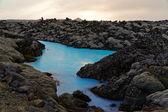 At the Blue Lagoon near Reykjavik — Stock Photo