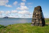 Little pyramid at Myvatn Lake — Stock Photo