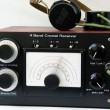 Homemade crystal radio — Foto Stock