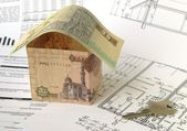Financing of housebuilding — Stock Photo