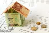 Financiering van de woningbouw — Stockfoto