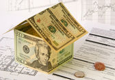 Financing of house building — Stock Photo