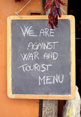 No Tourist Menu — Stock Photo
