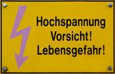 Vorsicht Hochspannung! — Stock Photo