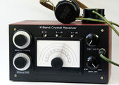 Homemade crystal radio — Stock Photo