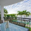 Balcony entertainment area of waterfront house - Foto de Stock