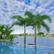 Infinity Pool with Views over canal — Stock Photo