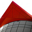 Red peak building architecural feature — Stock Photo #5786821
