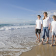 Royalty-Free Stock Photo: Family walking on the beach