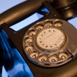 Black retro phone - Stock Photo