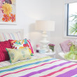 Childrens bedroom in modern townhouse — Stock Photo