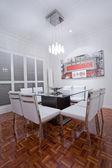 Luxury home dining room interior — Stock Photo