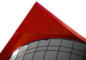 Red peak building architecural feature — Stock Photo
