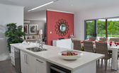 Kitchen in new modern townhouse — Stock Photo