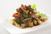 Beef Stir Fry with potatoes — Stock Photo